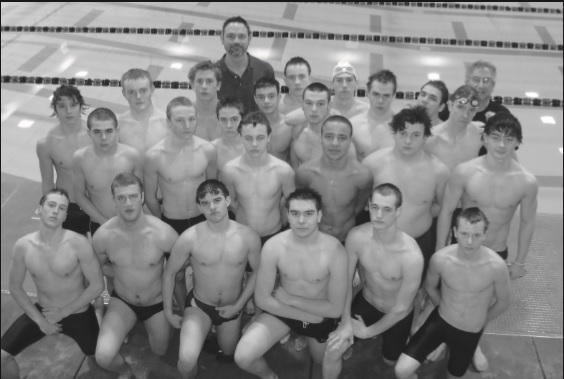Tom Schutte and O'Dea Irish Swim Team